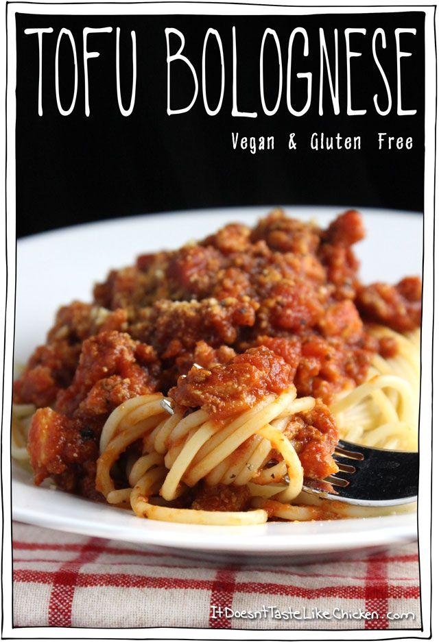 Tofu-Bolognese