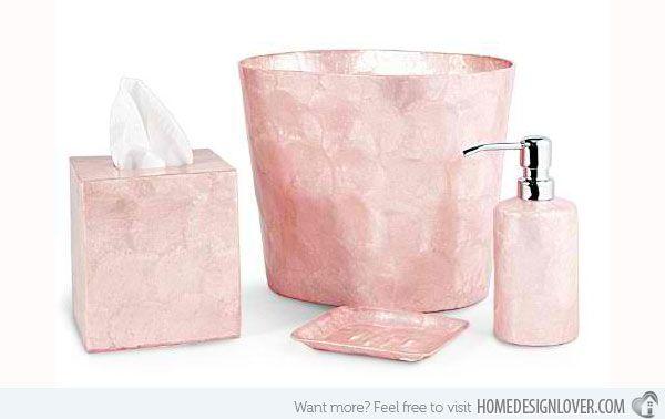 15 Chic Pink Bathroom Accessories Set Mint Green Bathroom
