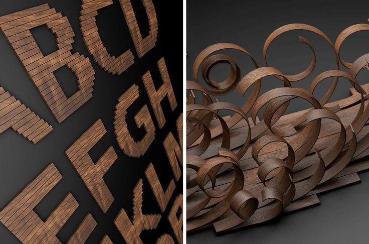 Letras de madera Espacios en madera