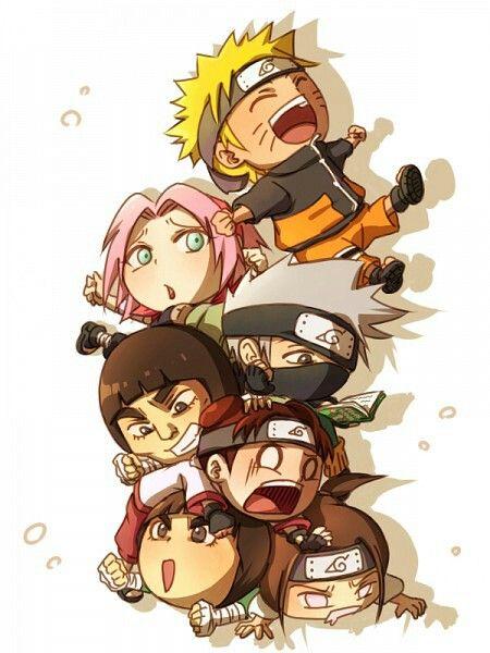 × Chibi Naruto,Sakura,Kakashi,Guy,Tenten,Lee,Neji~ ×Tenten is so adorable