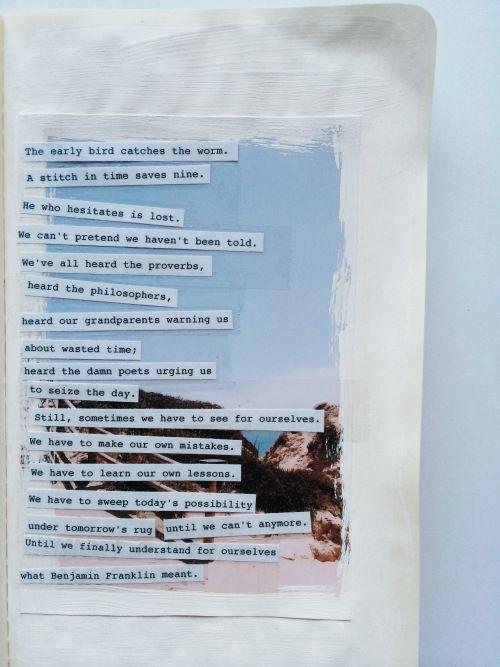 Get Messy Art Journal | Challenge 04 | Season Inspiration | Words - journaling