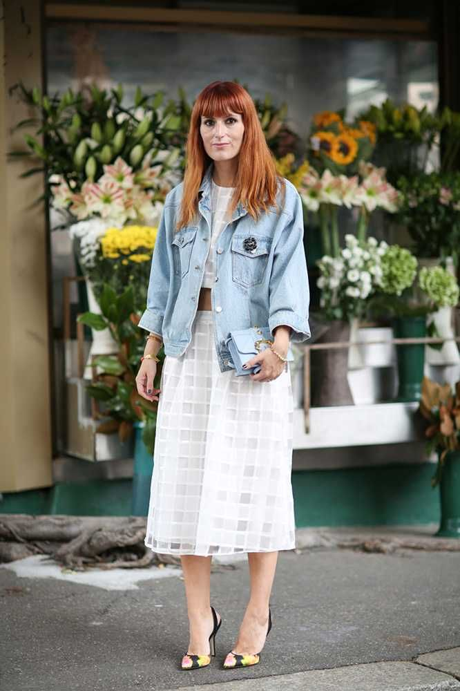 At Gucci by Victoria Adamson - Elleuk.com (wearing Lazzari jacket, Theory of Gaia top and skirt, Paul Andrew shoes and Paula Cademartori bag)