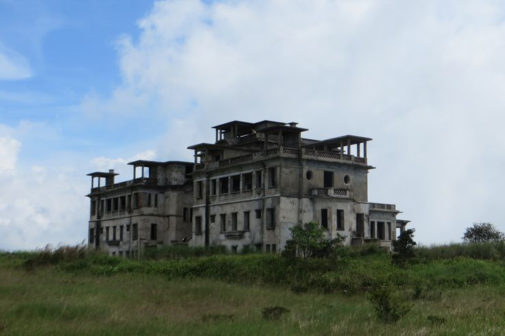 Old French resort on Bokor Mountain