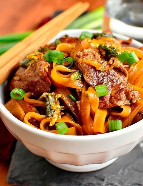 Save this recipe to make Mongolian Beef Noodle Bowls.