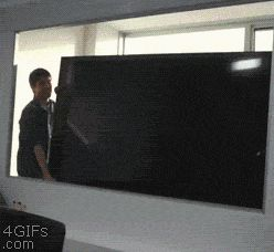 High definition TV interview prank (gif)