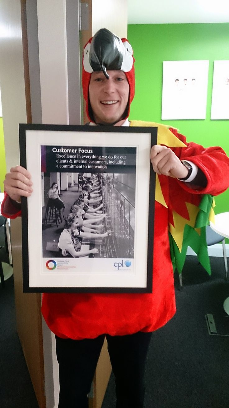 We take our core values very seriously at Cpl, and Robbie's definitely demonstrating his customer focus here!  #customerfocus #TheCplParrot