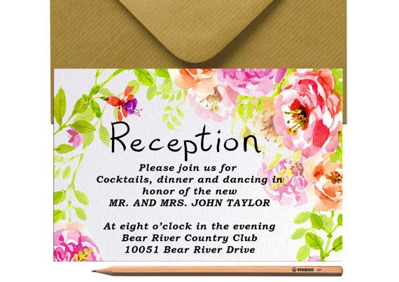 Hey, I found this really awesome Etsy listing at https://www.etsy.com/listing/474750919/rustic-wedding-reception-invitation-card