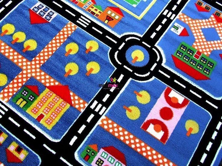 Dětský koberec BLUE TOWN - dětské koberce