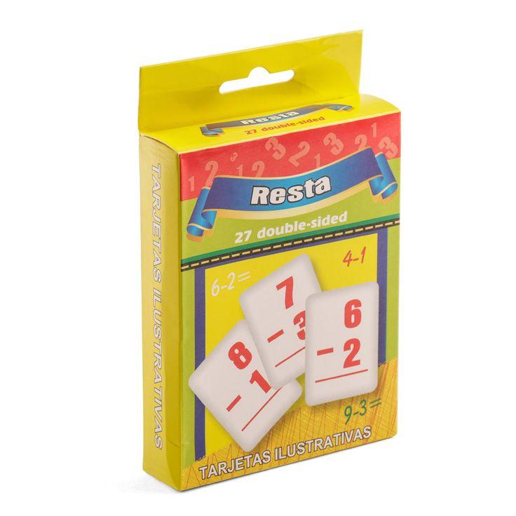 Juego de cartas aprende a restar. Fotografía: Kinoki studio.