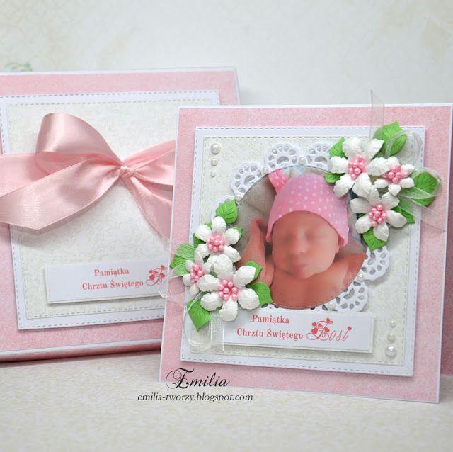 Emilia tworzy: Kartka na chrzest ze zdjęciem/Christening card