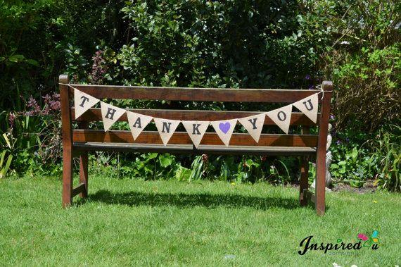 Hessian Fabric Bunting Rustic Shabby Chic by inspiredcompany4u, £9.49
