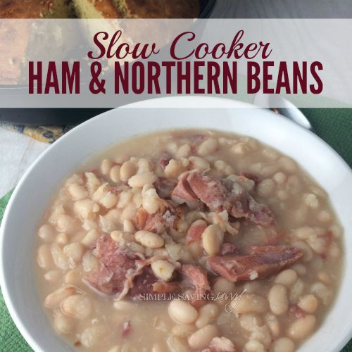 Slow Cooker Ham And Northern Beans In 2019 Northern