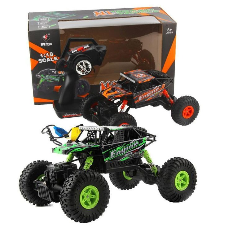 WLtoys 18428-B 1:18 Radio Remote Control Scale 2.4G 4WD RC Off-road Car Crawler Electric-drive off-roader RC Dirt bike toys