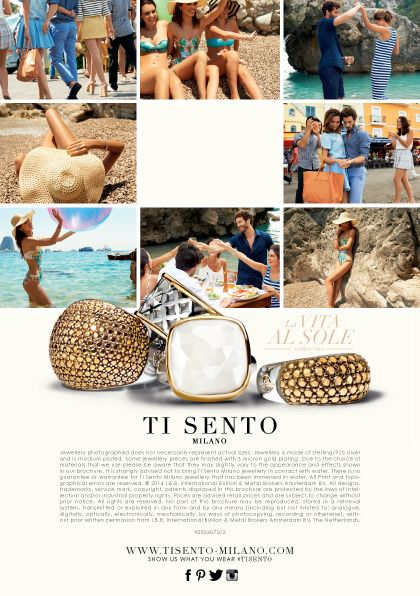 Spring / Summer 2014 Collection #Summer #Italy #Happy #Capri #TiSento #Jewellery #LaVitaAlSole #Silver #Gold #White #Friends #Cheers #Lovers #Beach #Sunny #Water #Play #Hat #TiSentoMilano