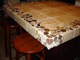 diy ceramic tile countertop installation riverstone and travertine custom x kitchen island countertop new jersey custom tile