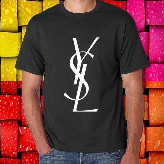 yves saint laurent ysl logo populer tshirt womens by usopsanKIS