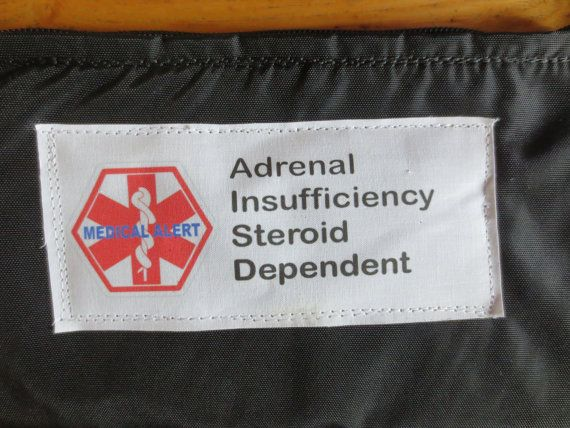 For patients with Addison's disease ( adrenal insufficiency ): insulated, weather proof, zippered pouch / case (with options of belt loops, clip, d ring). Carry emergency meds in case / kit in the event of adrenal crisis / Addison's crisis.  Ambulances in some states do not carry emergency steroid injections.  Make sure you carry your own and wear a medic alert bracelet.