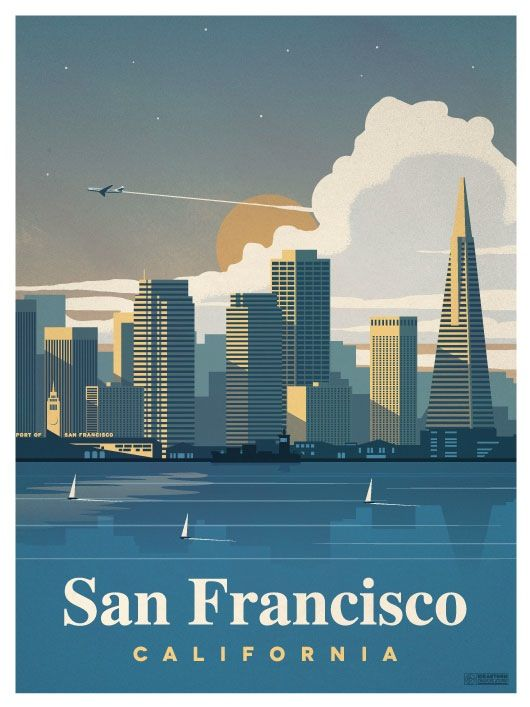 San Francisco City Poster by IdeaStorm Studios ©2016. Available for sale at ideastorm.bigcartel.com