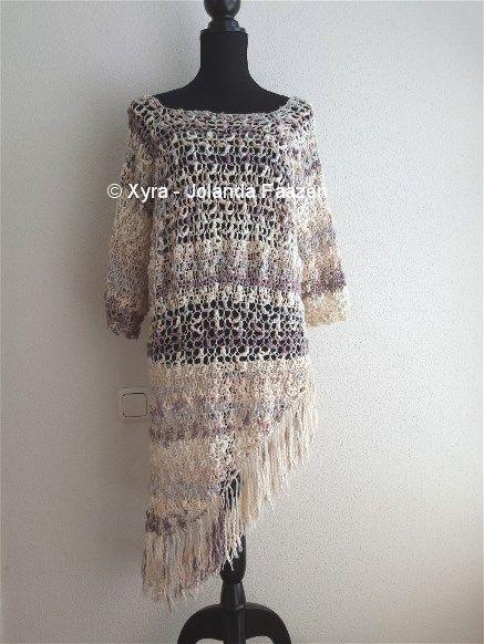 #PATR1028 #haakpatroon #patroon #haken #tuniek #jurk #shirt #gehaakt #crochet #pattern #DIY Patroon (NL) is beschikbaar via: Pattern (English-US) is available at: www.xyracreaties.nl www.ravelry.com/stores/xyra-creaties www.etsy.com/shop/XyraCreaties