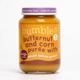 Bumbles™ Baby Food Butternut and Corn with Whole Quinoa Grains on bumbles.co.za