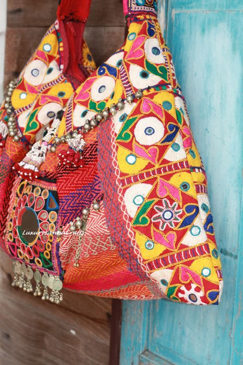 Love this colorfull Boho Bag Handcrafted with Vintage Fabric Rajasthan by Luxury Lanna Crafts on Etsy