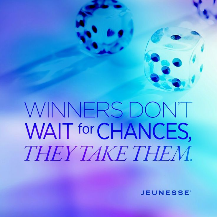 Winners don't wait for chances, they take them.  Join our business www.feverskins.jeunesseglobal.com