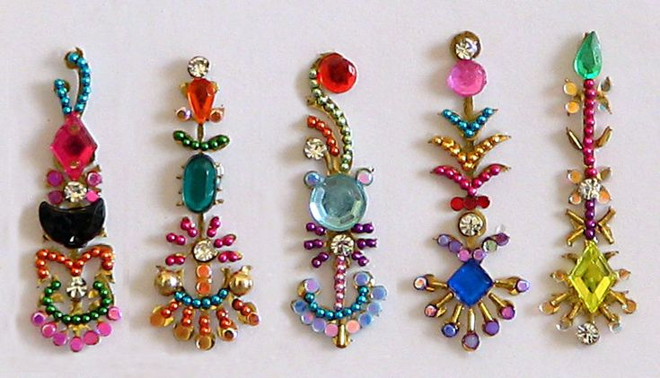 Joyous Spring - Multicolor Long Bindis (Sticker Bindi))