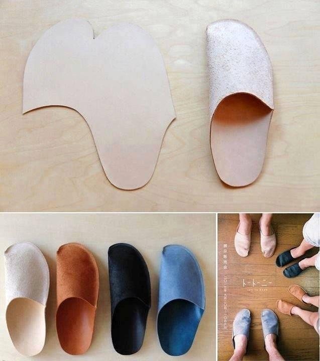 chaussons pour toute la famille ! en cuir, ou feutrine doublée coton pour le confort et picots pour la semelle anti dérapante....