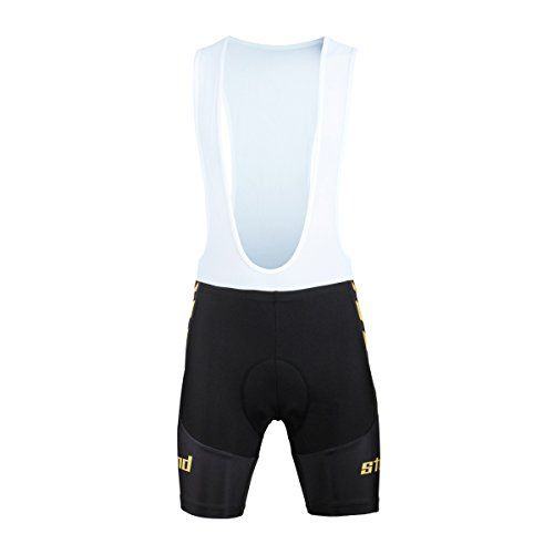 Men's Cycling Bib Shorts - Paladin Mens Black Cycling Bib Shorts With Inner Padded Strongwind Pattern Bike Jersey * Learn more by visiting the image link.