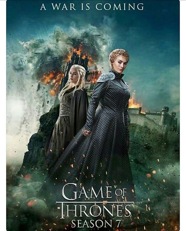 """""""Une guerre entre reines"""" Poster de la saison 7 de Game of Thrones / """"A war between Queens"""" Poster of season 7 of Game of Thrones"""