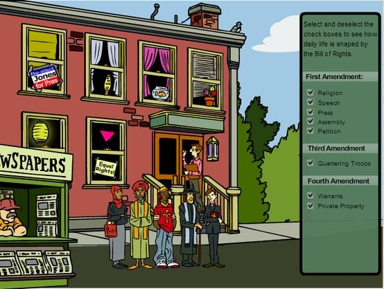 Life without the Bill of Rights Online Game