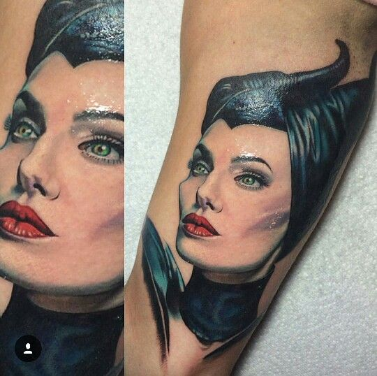 Chase Tafoya - Maleficent Tattoo