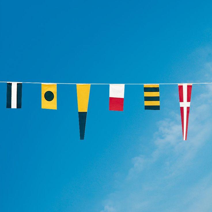 Doublet : lot de 40 drapeaux Pavois bateau (signalétique marine)