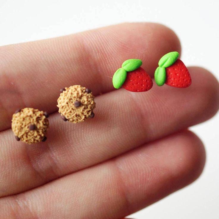 Food Earrings Set - Sweet Earrings - Mini Food Jewelry- Friendship Gift by sweetmuffinsshop on Etsy