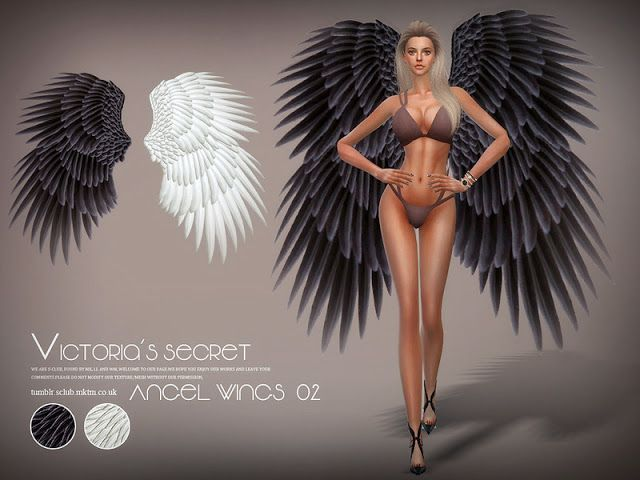 Sims 4 CC's - The Best: S-Club LL ts4 Angel wings 02
