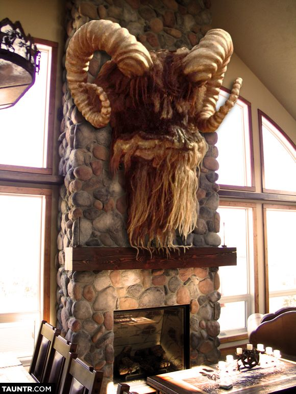 Taxidermied Heads of Star Wars Creatures Mounted on Fireplaces...this would be awsome...i would get a ton ton