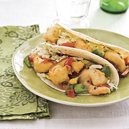 Tempura Shrimp Tacos | Make coleslaw up to 24 hours in advance to jump-start this recipe.