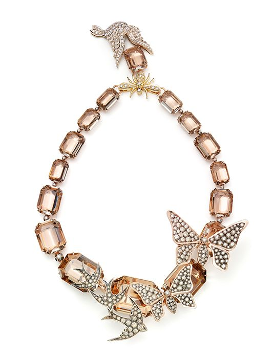 Necklace in 18K Noble, rosé and yellow gold with smoky quartz and diamonds. H.Stern Rock Season collection.