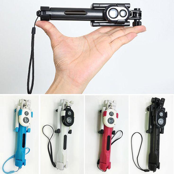 Universal Folding Extendable Selfie Stick Auto Selfie Stick Tripod+Clip Holder+Bluetooth Remote Controller Set