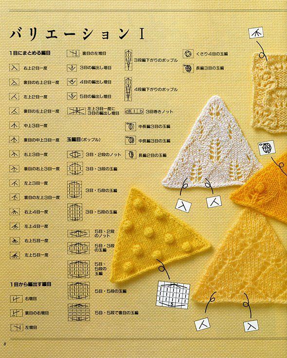 JIS - Japanese knitting symbols