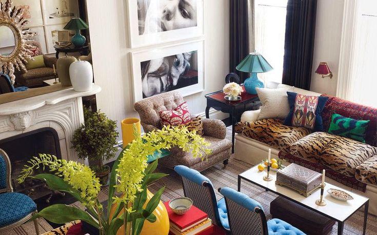 Гостиная, холл в цветах: желтый, бирюзовый, черный, серый, светло-серый. Гостиная, холл в стиле арт-деко.