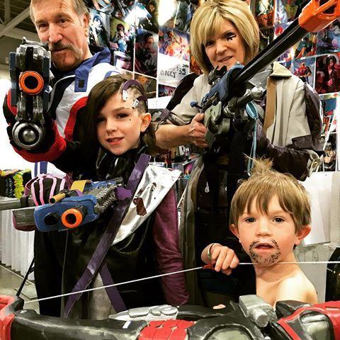 #BadAss #Overwatch #Family #Cosplay @saltlakecomiccon in #SaltLakeCity, UT on the #CWBT    #Sombra #Hanzo #Ana #Soldier76 #Soldier #76 #Anna #FamilyCosplay #KidCosplay