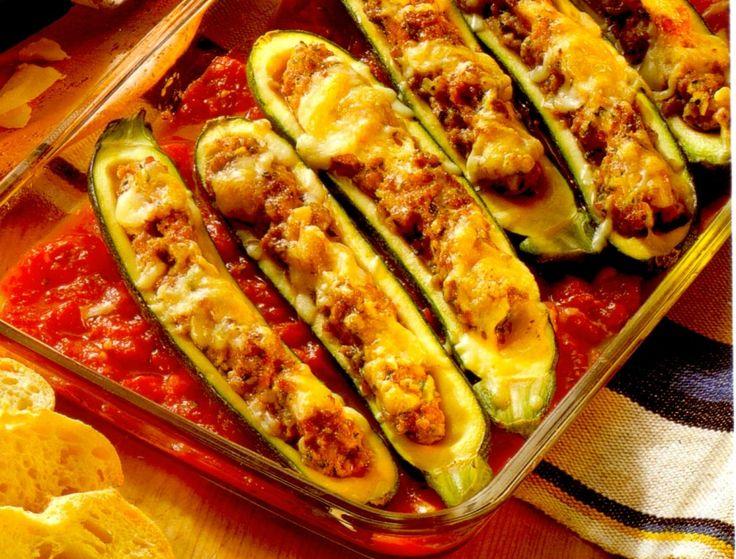 German recipe: Filled Zucchini