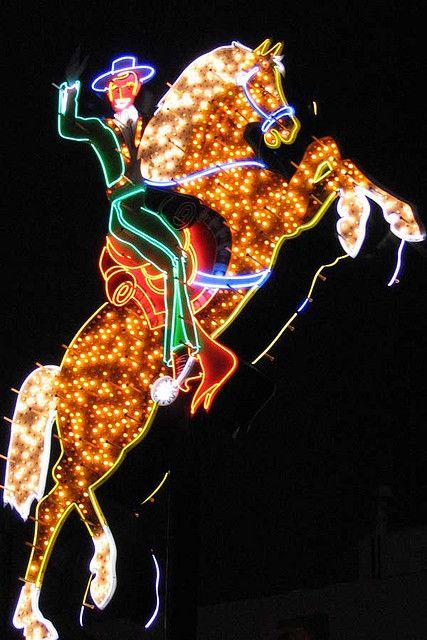 Hacienda Horse & Rider Neon Sign Las Vegas by Neato Coolville, via Flickr