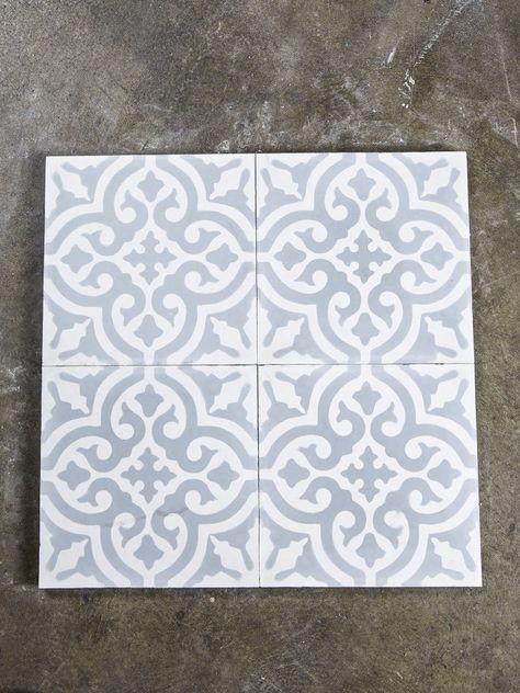 Marockanskt kakel - Marrakesh Grått kors