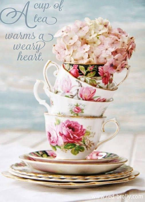 A cup of tea warms the weary heart.