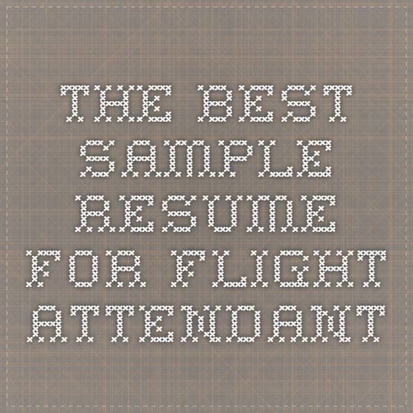 38 best Flight Attendant ? images on Pinterest Flight attendant - beach attendant sample resume