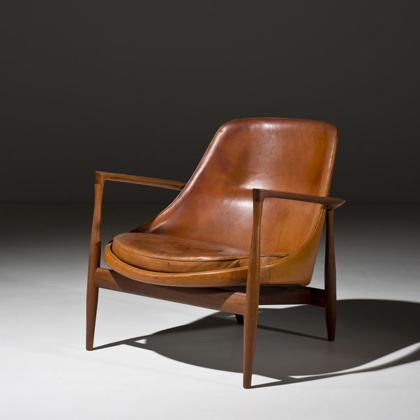 Designer Chair: Danish, Elizabeth Leather Chair