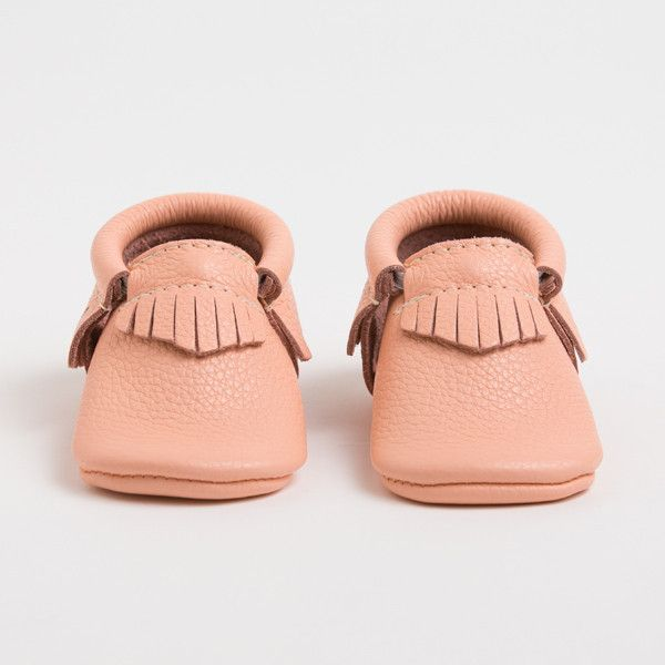 Coral Leather moccasins for Kids from Freshly Picked (as seen on Shark Tank!)