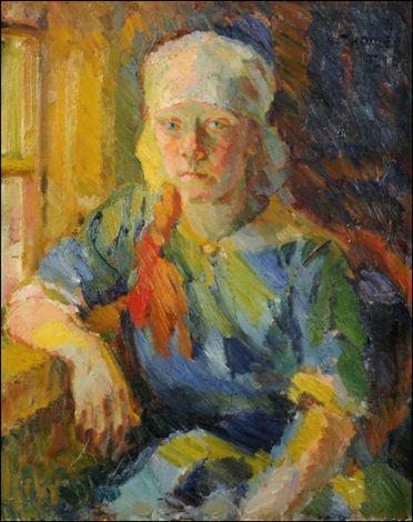 Maalaistyttö by Verner Thomé